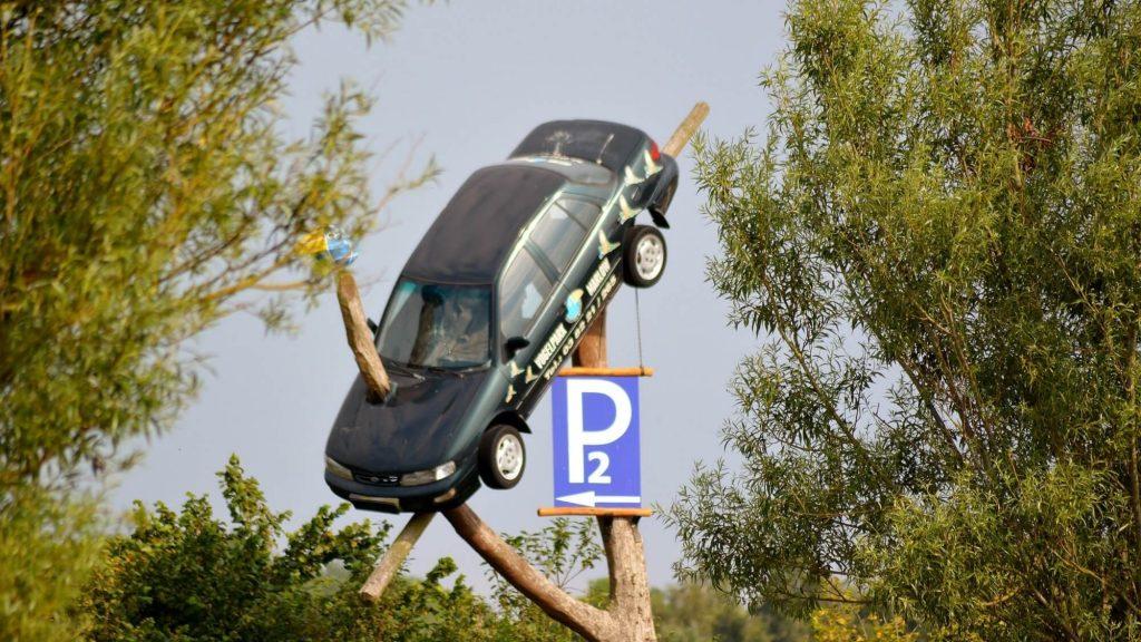 מכונית על עץ - ביטוח צד ג' לרכב