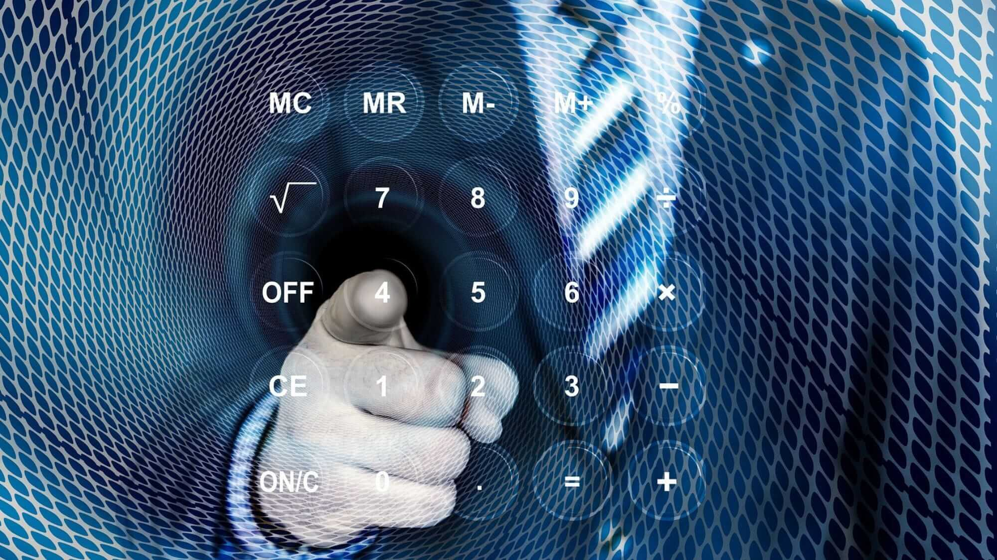 גבר ומחשבון וירטואלי – מחשבון חיסכון של משרד האוצר